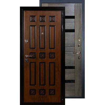 Входная дверь Лекс Гладиатор Винорит Неро (Графит шале)