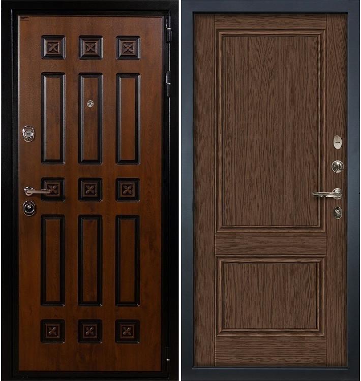 Входная дверь Гладиатор Винорит / Энигма Орех (панель №57)