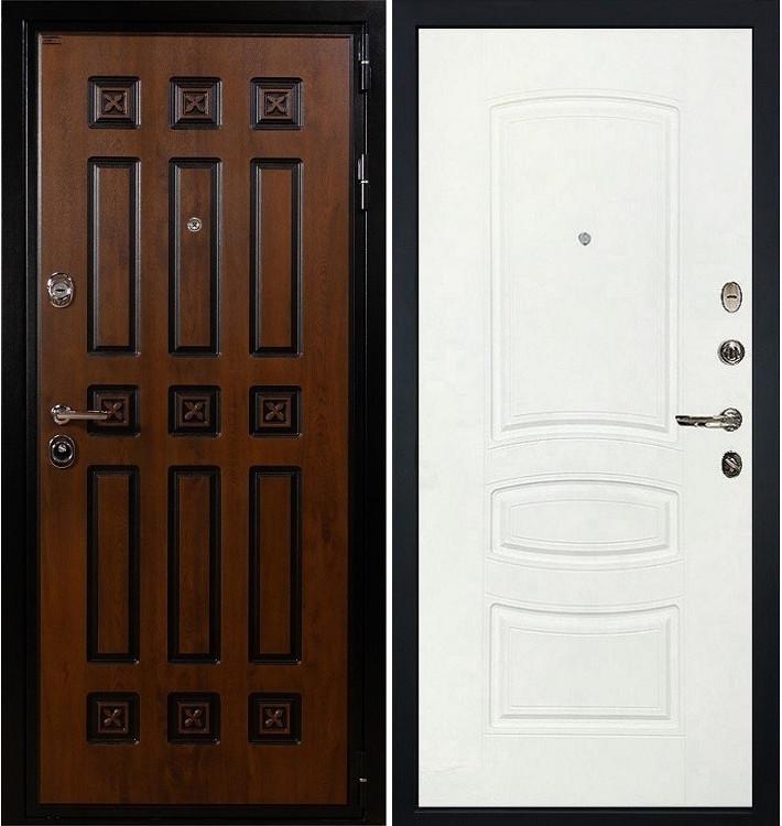 Входная дверь Гладиатор Винорит / Белая шагрень (панель №68)