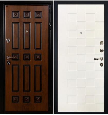 Входная дверь Гладиатор Винорит / Квадро Белая шагрень (панель №71)