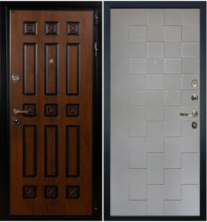 Входная дверь Гладиатор Винорит / Квадро Графит софт (панель №72)