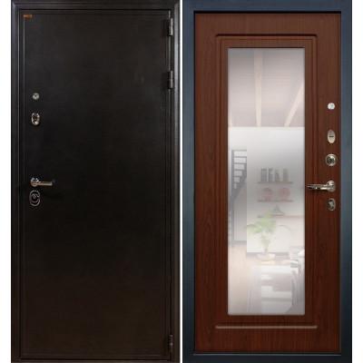 Входная дверь Лекс Колизей / с зеркалом Береза мореная (панель №30)