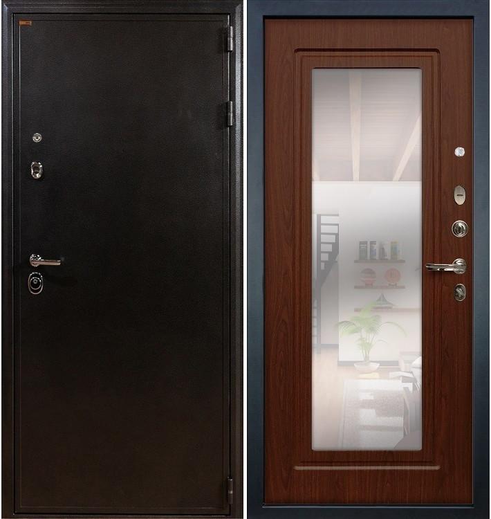 Входная дверь Колизей / с зеркалом Береза мореная (панель №30)