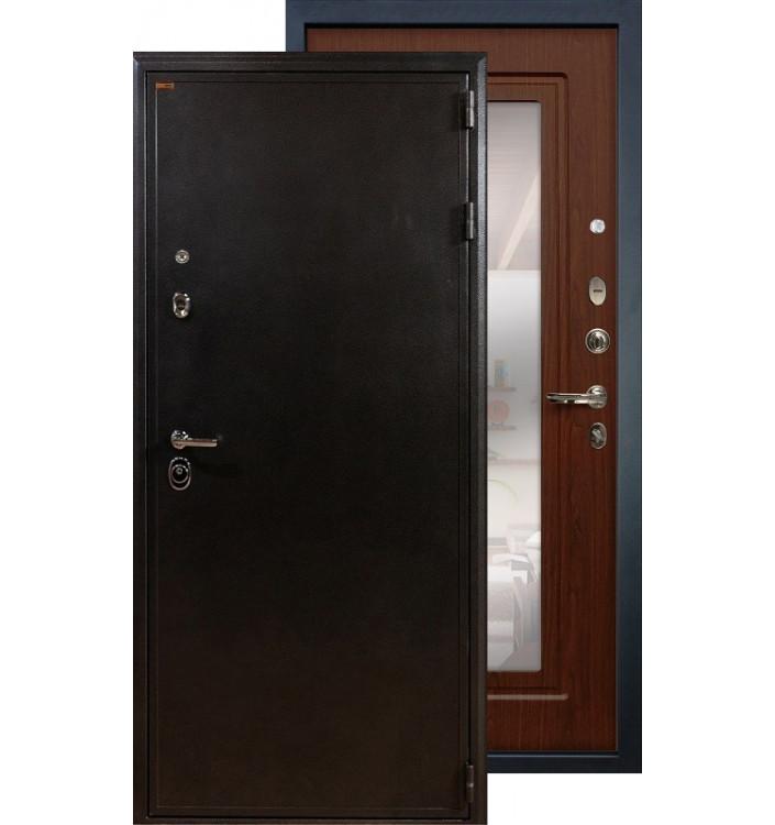 Входная дверь Лекс Колизей с зеркалом (Береза мореная)