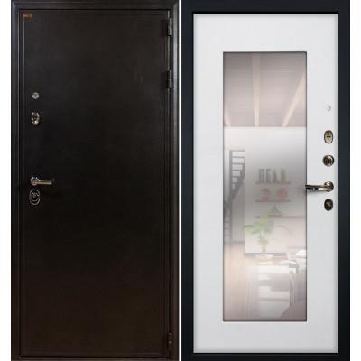 Входная дверь Лекс Колизей / с зеркалом Белый ясень (панель №37)