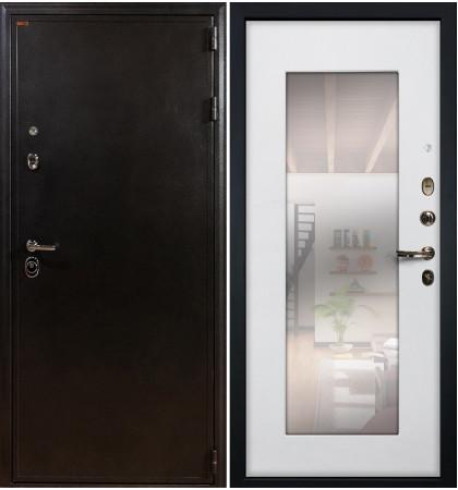 Входная дверь Колизей / с зеркалом Белый ясень (панель №37)