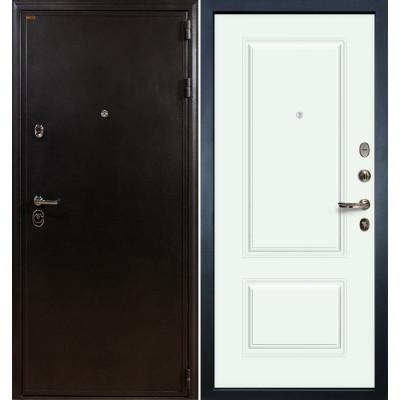 Входная дверь Лекс Колизей / Вероника Белая эмаль (панель №55)