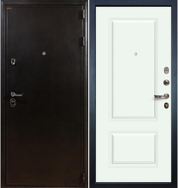 Входная дверь Колизей / Вероника Белая эмаль (панель №55)