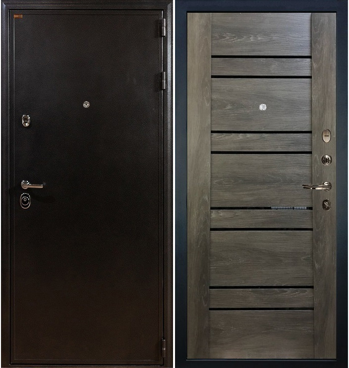Входная дверь Колизей / Терра Графит шале (панель №64)