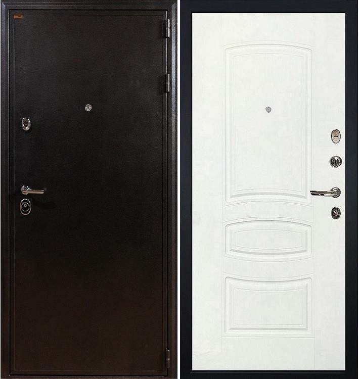 Входная дверь Колизей / Белая шагрень (панель №68)
