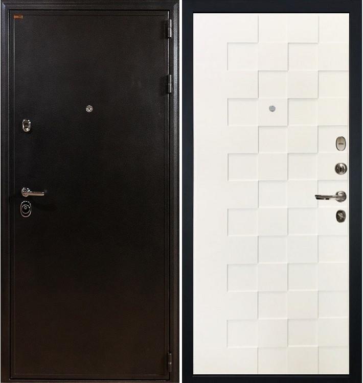 Входная дверь Колизей / Квадро Белая шагрень (панель №71)