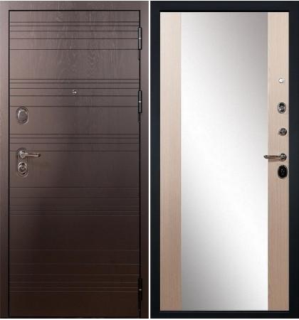 Входная дверь Легион Ясень шоколадный / Стиль Беленый дуб (панель №45)