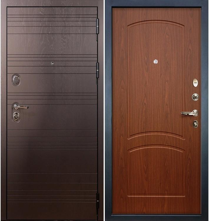 Входная дверь Легион Ясень шоколадный / Береза мореная (панель №11)