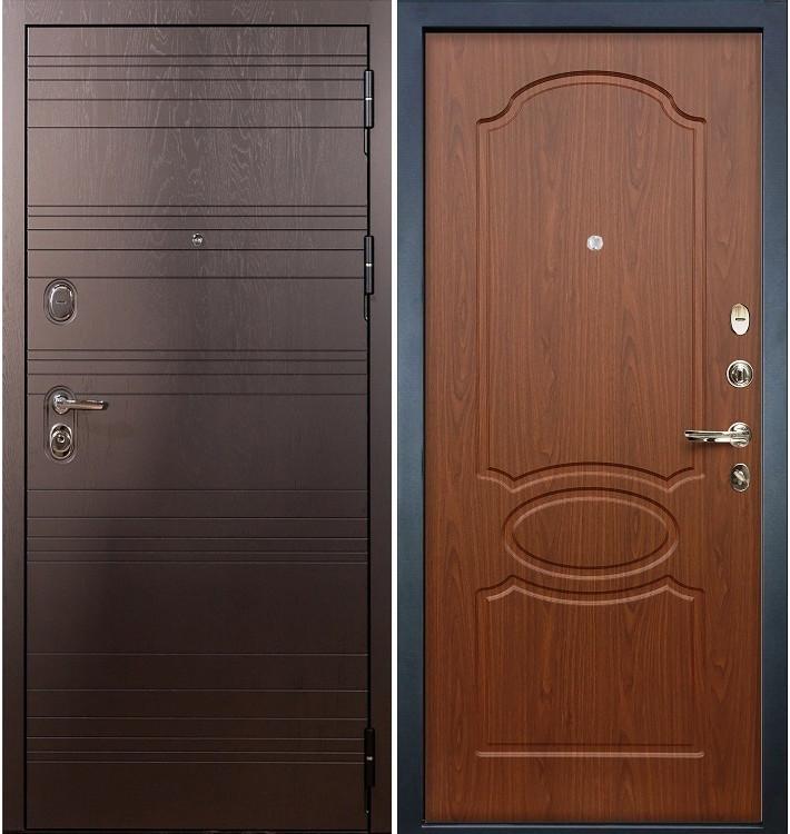 Входная дверь Легион Ясень шоколадный / Береза мореная (панель №12)