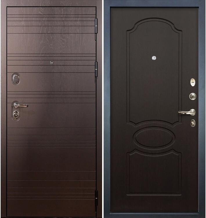 Входная дверь Легион Ясень шоколадный / Венге (панель №13)