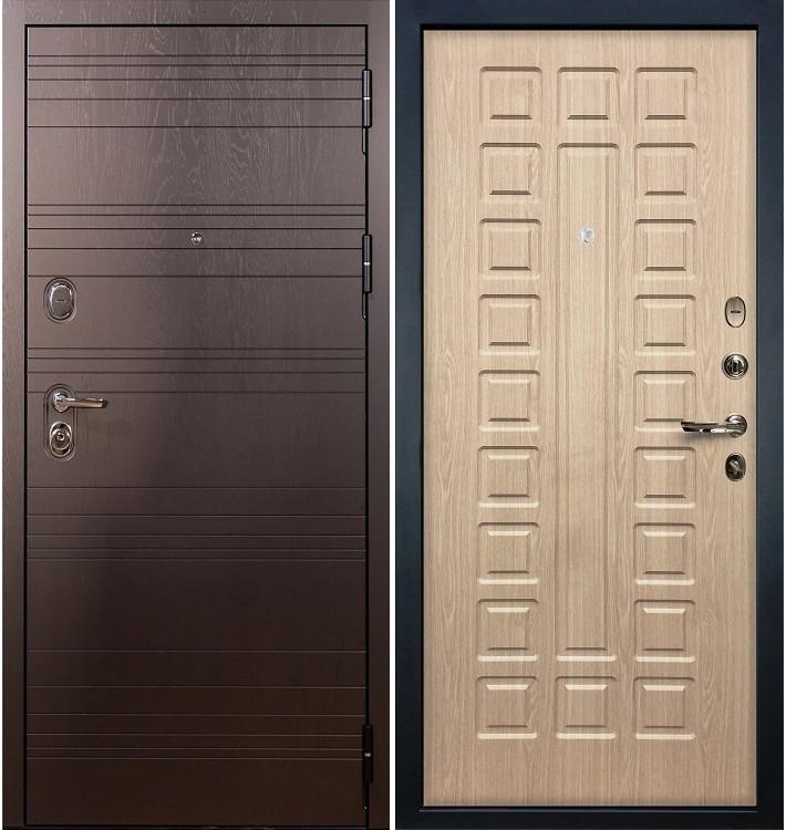 Входная дверь Легион Ясень шоколадный / Беленый дуб (панель №20)