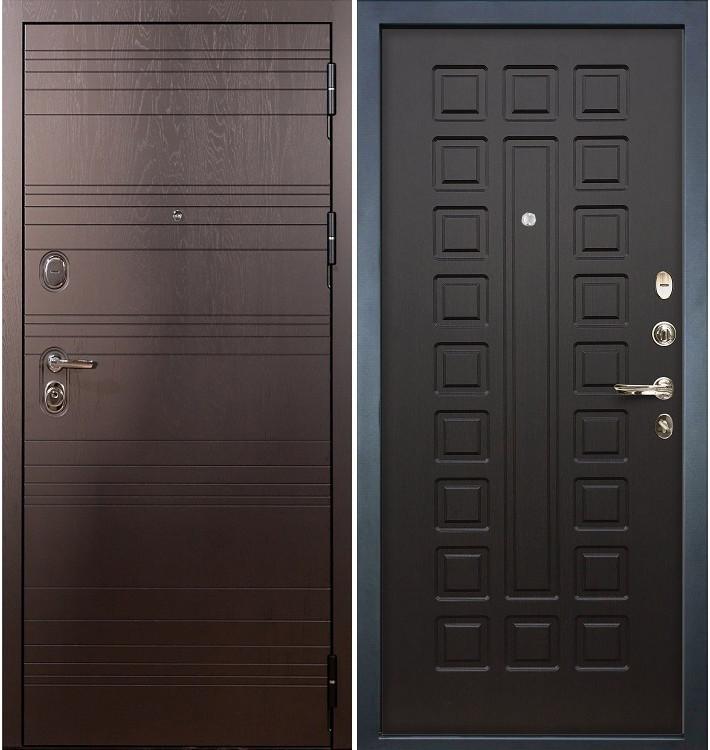 Входная дверь Легион Ясень шоколадный / Венге (панель №21)