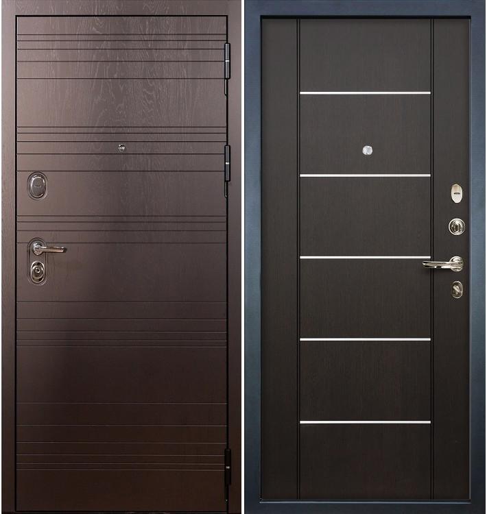 Входная дверь Легион Ясень шоколадный / Венге (панель №24)