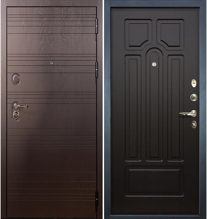 Входная дверь Легион Ясень шоколадный / Венге (панель №32)