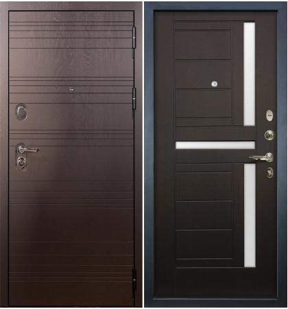 Входная дверь Легион Ясень шоколадный / Венге (панель №35)