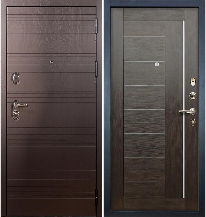 Входная дверь Легион Ясень шоколадный / Верджиния Венге (панель №39)