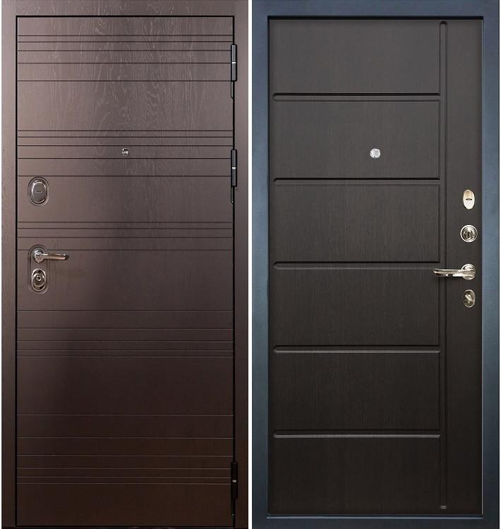 Входная дверь Легион Ясень шоколадный / Венге (панель №41)