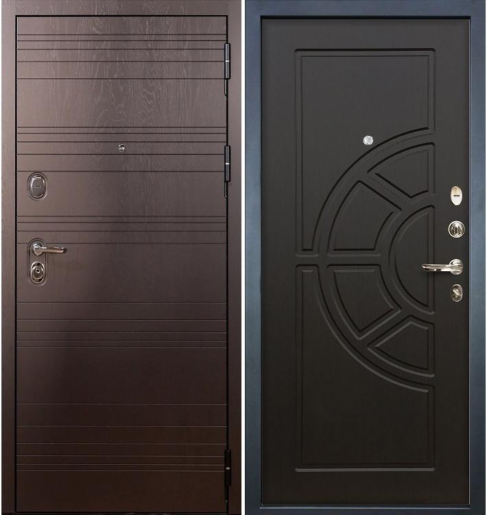 Входная дверь Легион Ясень шоколадный / Венге (панель №43)