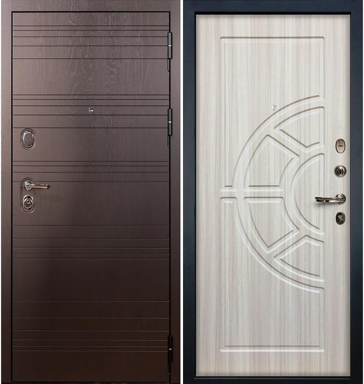 Входная дверь Легион Ясень шоколадный / Сандал белый (панель №44)