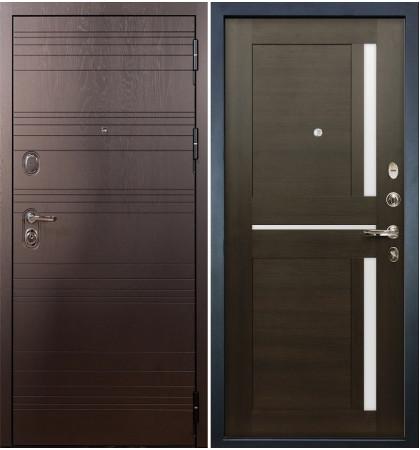 Входная дверь Легион Ясень шоколадный / Баджио Венге (панель №50)