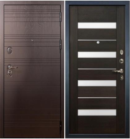 Входная дверь Легион Ясень шоколадный / Сицилио Венге (панель №51)