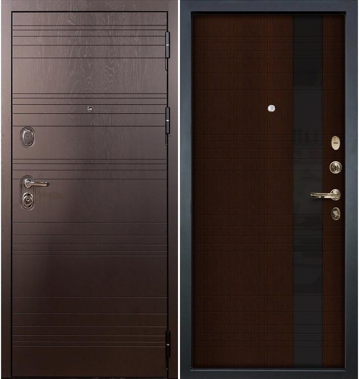 Входная дверь Легион Ясень шоколадный / Новита Венге (панель №53)