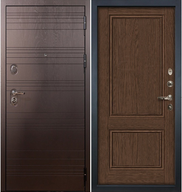 Входная дверь Легион Ясень шоколадный / Энигма Орех (панель №57)