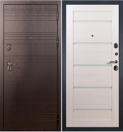 Входная дверь Легион Ясень шоколадный / Клеопатра Беленый дуб (панель №58)