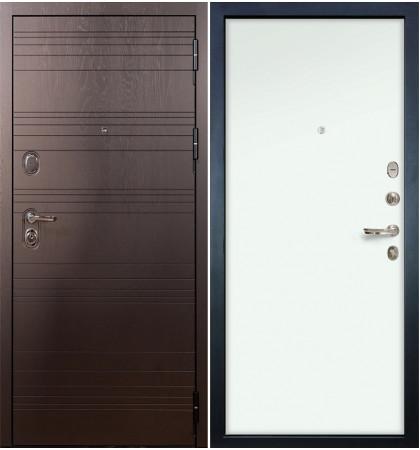 Входная дверь Легион Ясень шоколадный / Белый винорит (панель №59)