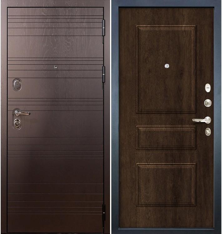 Входная дверь Легион Ясень шоколадный / Алмон 28 (панель №59)
