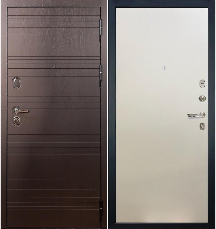 Входная дверь Легион Ясень шоколадный / Белый ясень (панель №62)