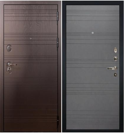 Входная дверь Легион Ясень шоколадный / Графит софт (панель №70)
