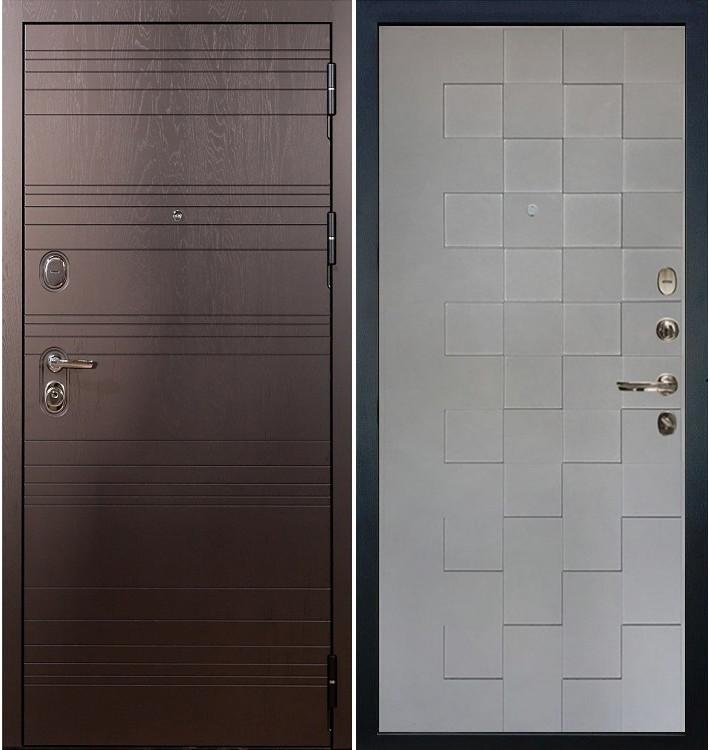 Входная дверь Легион Ясень шоколадный / Квадро Графит софт (панель №72)