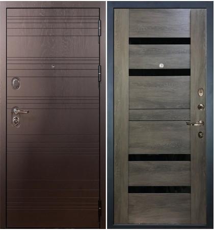 Входная дверь Легион Ясень шоколадный / Неро Графит шале (панель №65)