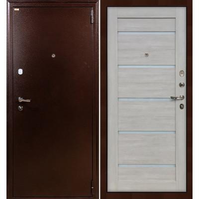 Входная дверь Лекс 1А / Клеопатра Ясень кремовый (панель №66)