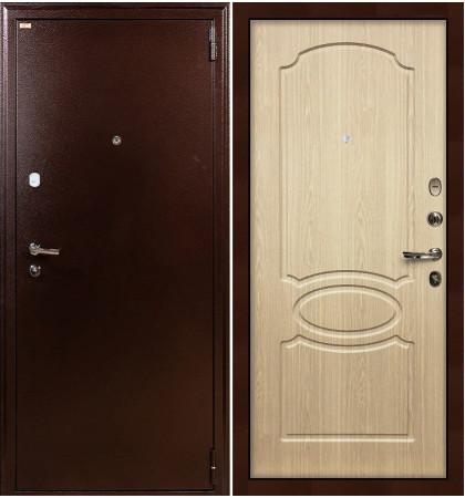 Входная дверь Лекс 1А / Беленый дуб (панель №14)