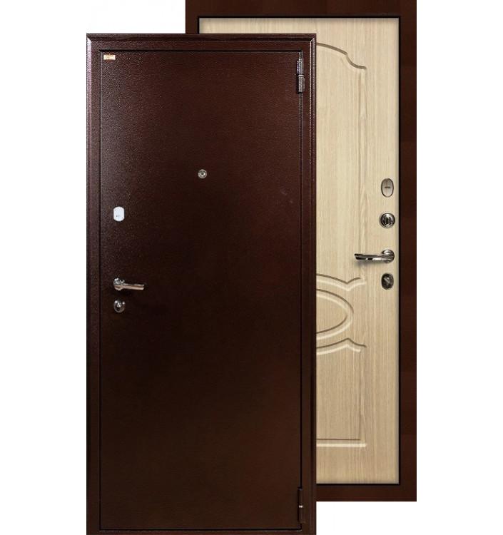 Входная дверь Лекс 1А ФЛ-12 (Беленый дуб)