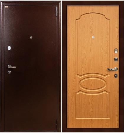 Входная дверь Лекс 1А / Дуб натуральный (панель №15)