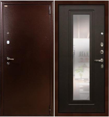 Входная дверь Лекс 1А / с зеркалом Венге (панель №22)