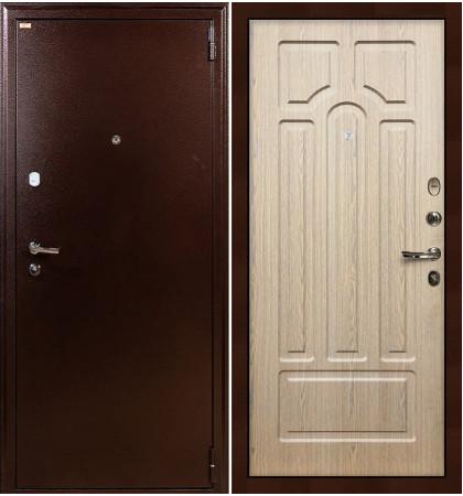 Входная дверь Лекс 1А / Беленый дуб (панель №25)