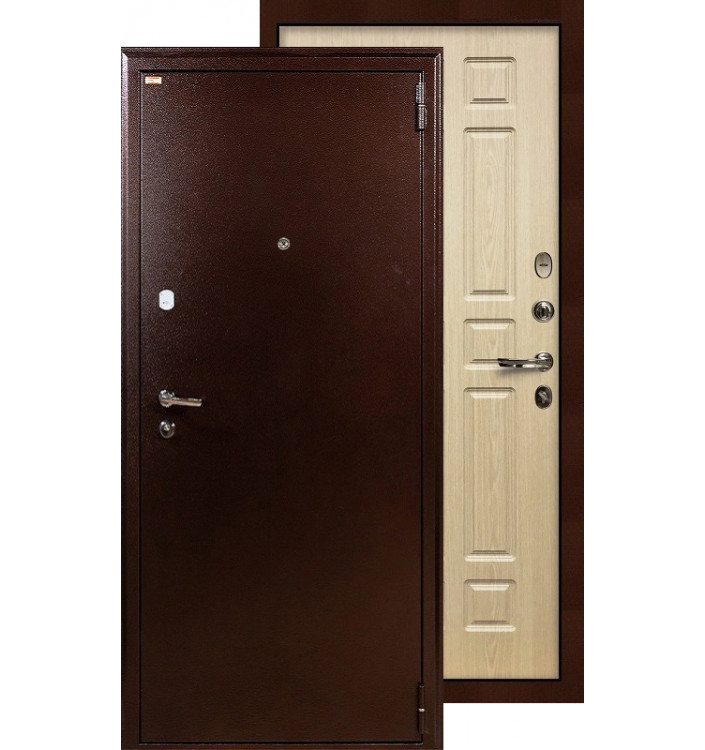 Входная дверь Лекс 1А ФЛ-28 (Беленый дуб)