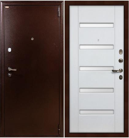 Входная дверь Лекс 1А / Белый ясень (панель №34)