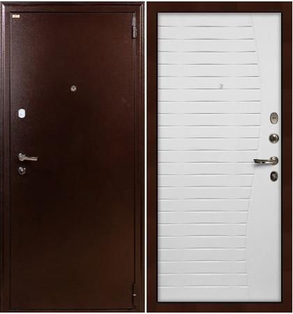 Входная дверь Лекс 1А / Волна Белый ясень (панель №36)