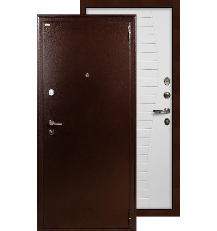 Входная дверь Лекс 1А Волна (Белый ясень)