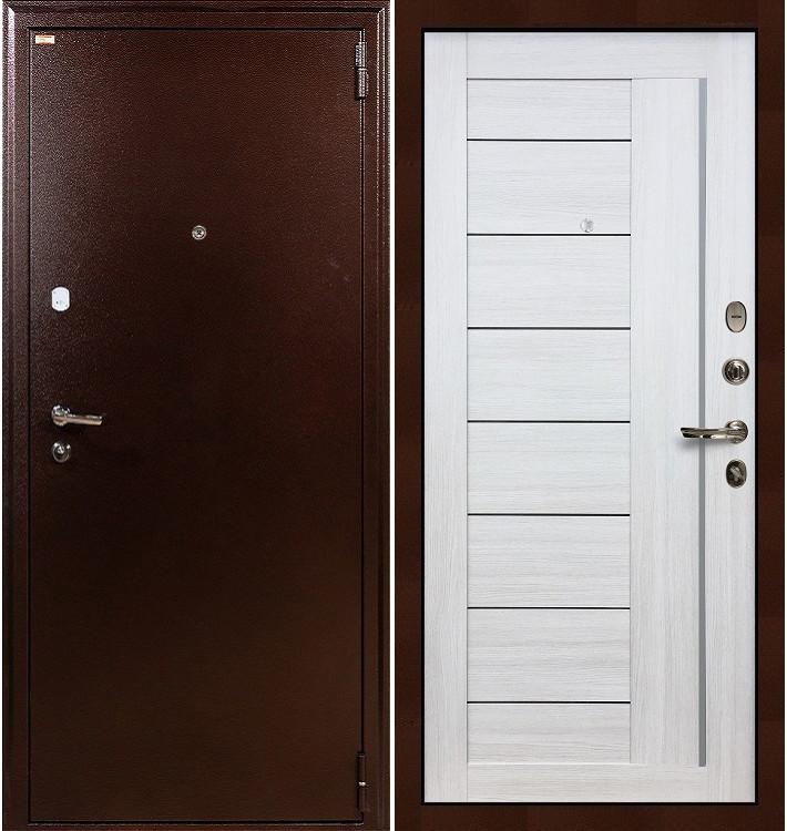 Входная дверь Лекс 1А / Верджиния Беленый дуб (панель №38)